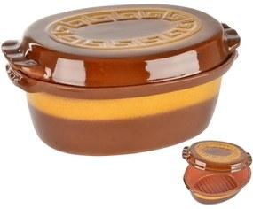 Obojstranný keramický pekáč s vekom 4,5 l