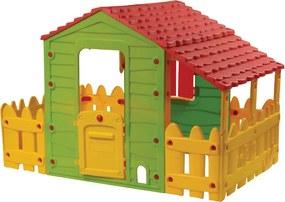 BUDDY TOYS Domček na záhradu Farm s plotom a verandou