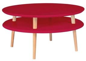 RAGABA Ufo konferenčný stôl nízky, červená