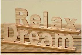 Sada 2 dekoratívnych nápisov Boltze Relax, Dream