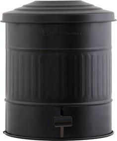 HOUSE DOCTOR Matne čierny kôš na odpadky Ø25,5x30 cm