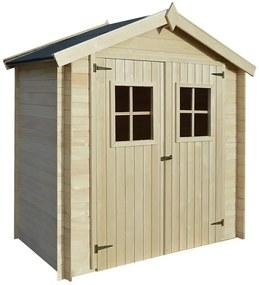Záhradný drevený domček/dreváreň/kôlňa, 2x1 m, 19 mm