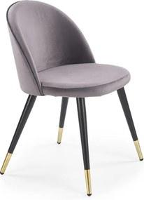 HALMAR K315 jedálenská stolička tmavosivá / čierna / zlatá