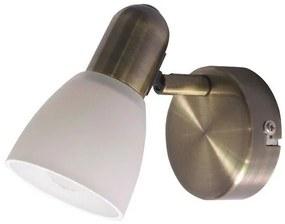 Nástenné svietidlo Soma 6306 bronzová / biela