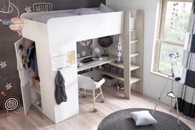 DGT, TOM Detská poschodová posteľ biela