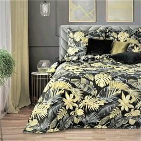 Obliečky bavlnené Palmarine Gold TiaHome 2x Vankúš 90x70cm, 1x Paplón 200x220cm