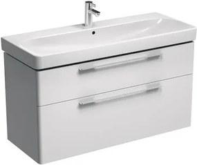 Kúpeľňová skrinka pod umývadlo KOLO Traffic 116,8x62,5x46,1 cm biela lesk 89439000
