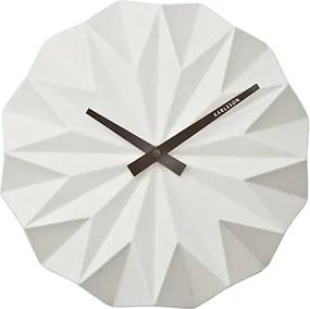 KARLSSON Nástenné hodiny Origami biele