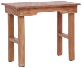 vidaXL Koncový stolík 70x35x60 cm mahagónový masív