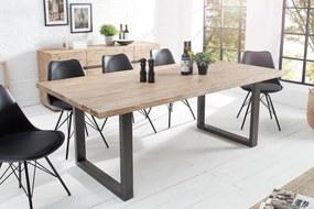 Bighome - Jedálenský stôl WOTANA 160 cm - prírodná, čierna