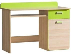 PC stůl, jasan / zelený, EGO L10 06023899 Tempo Kondela