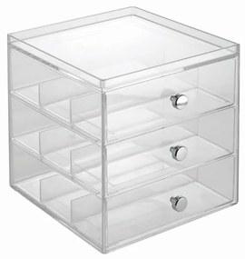 Transparentný organizér na okuliare iDesign, 3 zásuvky