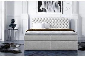 Štýlová kontinentálna posteľ Giulio smotanové 120 + topper zdarma