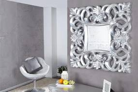 Zrkadlo Antic 15627 75x75cm Strieborné-Komfort-nábytok