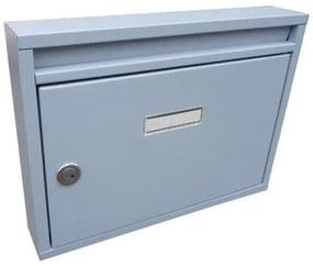 Poštová schránka DLS-E-01-B-P_S, vhod formát A4, interierové schránky, sivá RAL 7040 / Barva schránky:Šedá RAL 7040