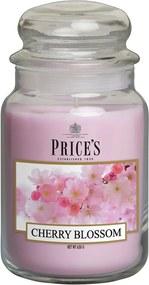 PRICE´S MAXI svíčka ve skle Višňový květ, hoření 150h