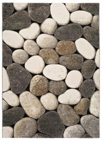 Sivý koberec Universal Pebble, 60 × 120 cm