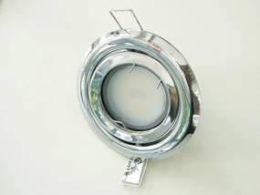 T-LED LED bodové svetlo do sadrokartónu 5W chróm 230V výklopné Farba svetla: Teplá biela