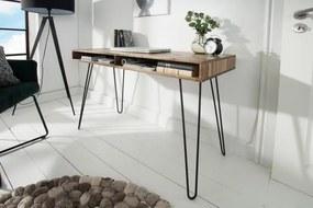 IIG -  Masívny pracovný stôl SCORPION 110 cm akácia, šedý