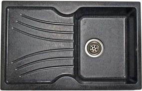 | Granitový dřez SANITEC 1B1D (78x50) bílý