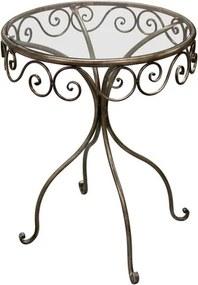 OVN okrúhly stôl IDN 292959 sklo/kov/zlatý