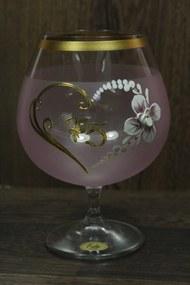 Výročný pohár na 75. narodeniny - BRANDY - ružový