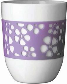 QDO Sada 2 porcelánových termohrnčekov Silly fialová