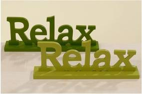 Sada 2 dekoratívnych nápisov Boltze Relax