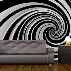 Fototapeta - Black and white swirl 200x154