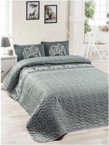 Set bavlnenej prikrývky cez posteľ a 2 obliečok na vankúše Lesso Cara, 200 × 220 cm