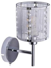 Globo Globo 15091W - Krištáľové nástenné svietidlo WALLA 1xE14/40W/230V GL6060