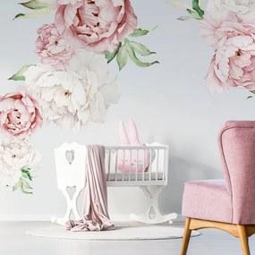 lovel.sk Nálepky na stenu Nature - pivonky - ružové