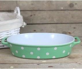 Isabelle Rose Keramický pekáč - 35,5 cm zelený