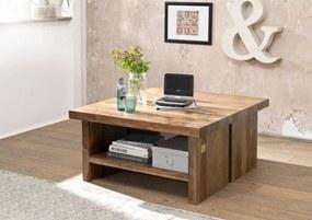 Masiv24 - ROUND Konferenčný stolík 90x90 cm, hnedá, palisander
