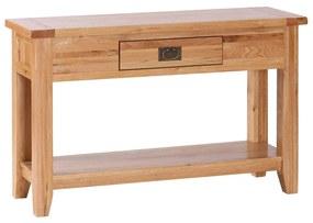 Konzolový stolík s úzkou zásuvkou a poličkou 1200x400x750