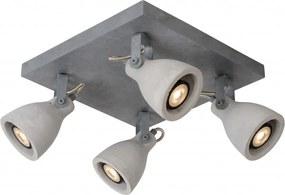 LED stropné svietidlo bodové Lucide CONCRI-LED 4x5W GU10