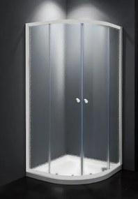 Sprchový kút štvrťkruh 80x80x185 cm Multi Basic biela SIKOMUS80CH0