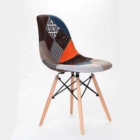 Jedálenská stolička PATCHWORK - škandinávsky štýl