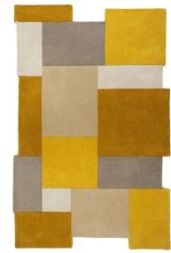 Flair Rugs koberce Ručně všívaný kusový koberec Abstract Collage Ochre/Natural - 200x290 cm