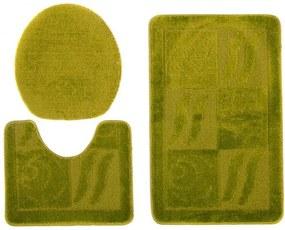 Kúpeľňové predložky 1107 zelené 3 ks, Velikosti 50x80cm