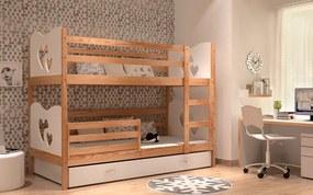 Poschodová posteľ MAX 185x80 Biela