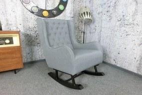 (3093) LILLY elegantné hojdacie kreslo šedé