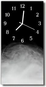 Sklenené hodiny vertikálne  Čierny dym