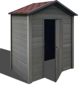 Záhradný domček na náradie WPC 188x188x264 cm sivý