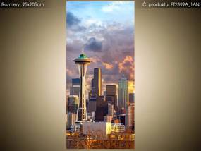 Fototapeta Seattle pri západe slnka 95x205cm S-FT2399A_1AN(V
