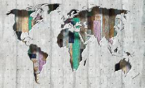 3D Fototapeta Mapa vlies 312 x 219 cm