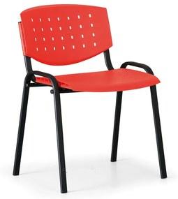 Antares Rokovacia stolička Tony, červená - konštrukcia čierna