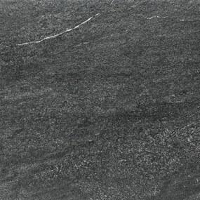 2cm dlažba Rako Quarzit Outdoor čierna 60x60 cm mat DAR66739.1