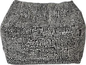 Vankúš na sedenie Orkanen, čiernobiely Marimekko