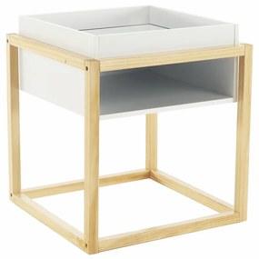 TEMPO KONDELA Hagan príručný stolík biela / prírodná